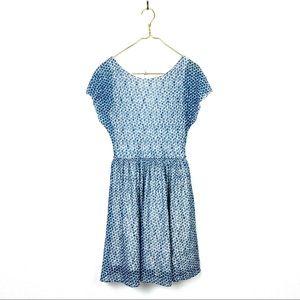 Anthropologie Weston Wear Blue Polka Dot Dress